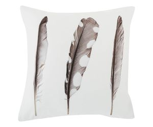 Feathers Cushion Cover With Zip Closure - cushions
