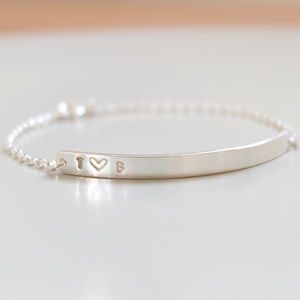 Couple's Silver Heart Bracelet - valentine's gifts for her