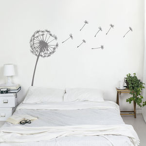 Dandelion Wall Sticker - bedroom