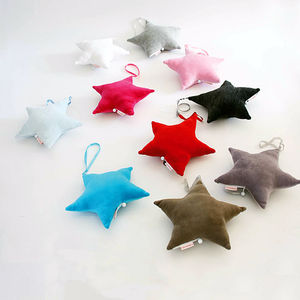 Cotton Velour Star Shaped Musical Mobile - children's room accessories