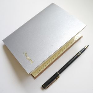 Personalised Leather Address Book In Eight Colours - address books