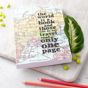 Inspirational Quote Travel Journal - stocking fillers for her