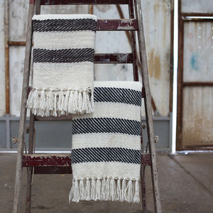 Stripe Wool Throw - blankets & throws
