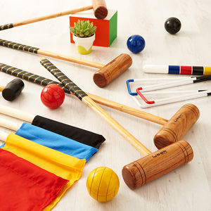 Garden Croquet Set - toys & games for adults