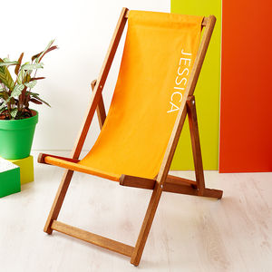 Personalised Plain Deckchair - outdoor living