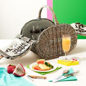 Kensington Two Person Wicker Picnic Basket - picnics & barbecues