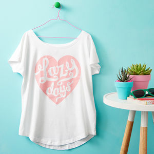 'Lazy Days' Women's Loose Fit T Shirt - women's fashion