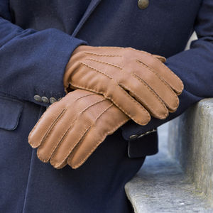 Northay. Men's Deerskin And Cashmere Gloves