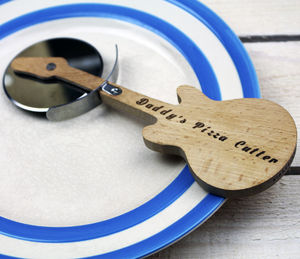 Personalised Engraved Guitar Pizza Cutter - kitchen accessories