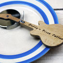 Personalised Engraved Guitar Pizza Cutter