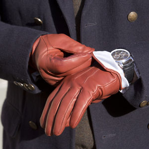 Hinton. Men's Silk Lined Leather Gloves
