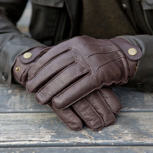 Reeves. Men's Cashmere Lined Deerskin Gloves