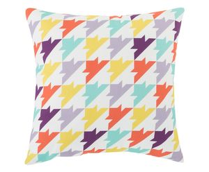 Houndstooth Cushion Cover With Zip Closure - cushions