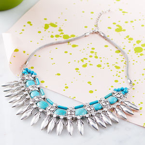 Aztec Turquoise Necklace - statement necklaces