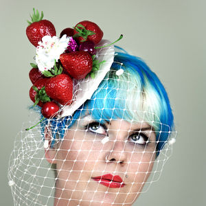 Strawberry Cupcake Fascinator - head pieces