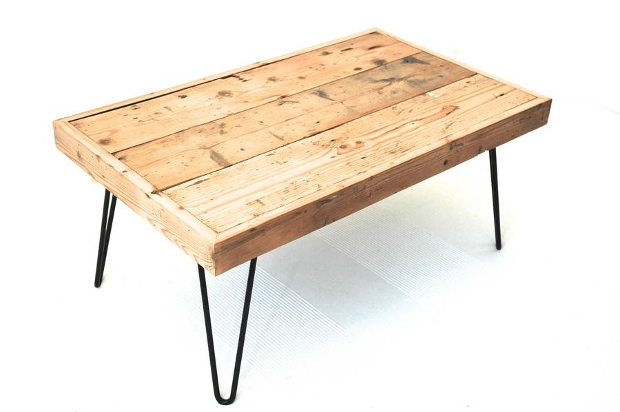 Billy Coffee Table With Hairpin Legs By Renn Uk