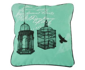 Two Cages Cushion Cover With Zip Closure