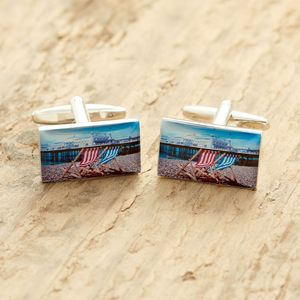 Brighton Cufflinks Deck Chairs - cufflinks