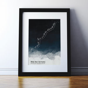 Latin Quote Print 'Hinc Itur Ad Astra' - home sale