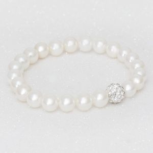 Maree Bead And Crystal Personalised Children's Bracelet