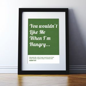 Hangry Print - children's room