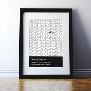 Cycling And Bike Fanatic Print - posters & prints