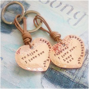 Personalised Seventh Anniversary Keyring
