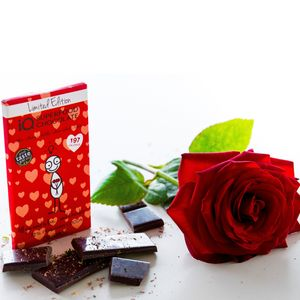 Raw Dark Chocolate Bar - alcohol free gifts