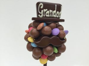 Malteser And Smartie Hat And Moustache Tree