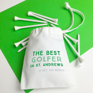 Best Golfer In… Golf Bag With Tees - gifts for sportsmen