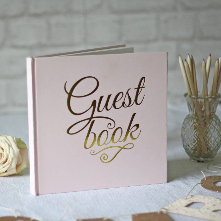 Guest Book Wedding Decoration Ideas: Pink And Gold Foil Guest Book By The Wedding Of My Dreams