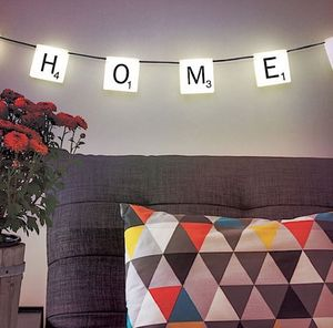 Licensed Scrabble Hanging Lights - christmas home