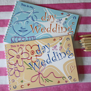 This Is My Day At A Wedding Children's Keepsake Book - wedding day activities