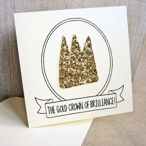 'Gold Crown Of Brilliance' Congratulations Card
