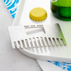 Beard Comb And Bottle Opener - gifts under £25 for him