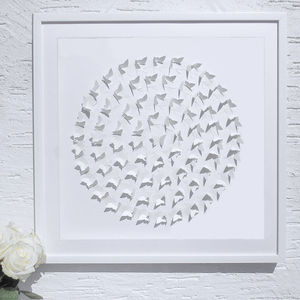 Framed 3D 'Circle of Life' Butterfly Artwork