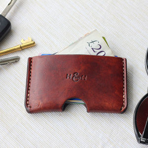 Slim Leather Card Holder - gifts for him
