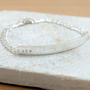 Personalised Silver Men's Bracelet