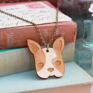 Wooden French Bulldog Necklace - pet-lover