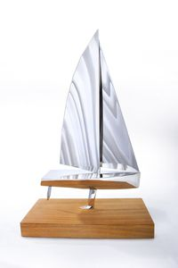 Farr Inspired Sail Boat Sculpture - sculptures