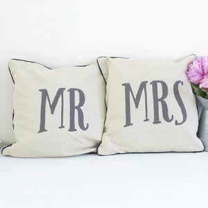 Mr And Mrs Cushion Set - whatsnew