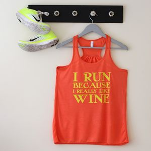 Personalised Slogan Racerback Top - lounge & activewear