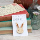 Wooden Bunny Rabbit Brooch