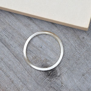 Inside Out Stacking Ring In Sterling Silver - rings