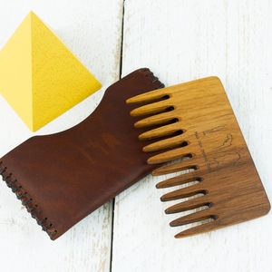 Wood Beard Comb - gifts for him