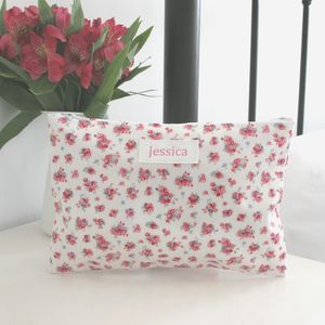 Personalised Floral Cosmetic Bag - shop by price