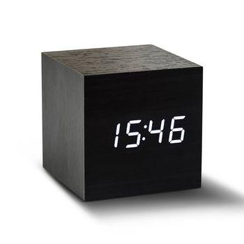 Black Cube Click Clock