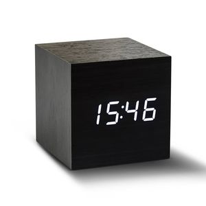 Black Cube Click Clock - clocks