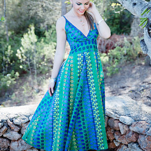 30% Off Cotton Flared Summer Maxi Dress