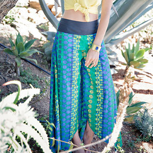 Wide Leg Cotton Summer Trousers - women's sale